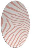 rug #472357   oval white stripes rug