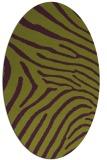 rug #472365   oval green animal rug