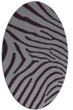 rug #472373 | oval purple animal rug