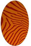 rug #472381   oval orange animal rug