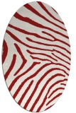 rug #472385 | oval red animal rug