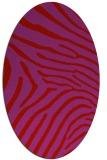 rug #472389 | oval pink animal rug