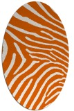rug #472405 | oval red-orange stripes rug