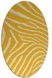 rug #472425 | oval yellow animal rug