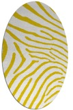 rug #472437 | oval white stripes rug
