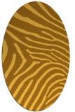 rug #472441 | oval light-orange stripes rug