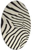 rug #472445   oval black animal rug
