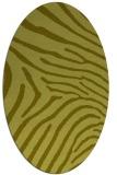 rug #472457 | oval light-green animal rug