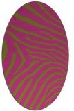 rug #472465 | oval light-green animal rug