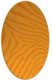 rug #472481 | oval light-orange animal rug