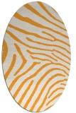 rug #472485 | oval light-orange animal rug