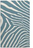 rug #472513    blue-green animal rug