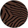 rug #472857 | round brown stripes rug