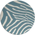 rug #472865 | round blue-green stripes rug