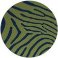 rug #472877 | round blue animal rug