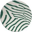 rug #472973 | round blue-green animal rug