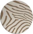 rug #472993 | round mid-brown stripes rug