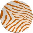 rug #473033 | round orange animal rug