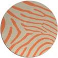 rug #473037 | round orange stripes rug