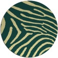 rug #473045 | round blue-green animal rug