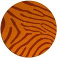 rug #473097 | round red-orange animal rug
