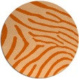 rug #473101 | round red-orange animal rug