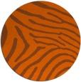 rug #473105 | round red-orange animal rug