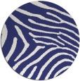 rug #473121 | round blue animal rug