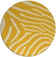 rug #473129   round yellow animal rug
