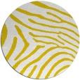 rug #473141 | round yellow animal rug
