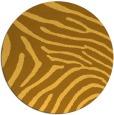 rug #473145 | round light-orange stripes rug