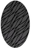 rug #473905 | oval black natural rug
