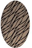 rug #473909 | oval beige rug