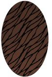 rug #473913   oval black natural rug