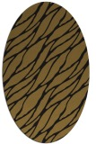 rug #474013 | oval mid-brown rug