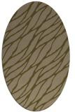 rug #474017 | oval mid-brown natural rug