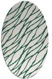 rug #474029 | oval green popular rug