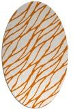 rug #474089   oval orange natural rug