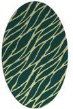 rug #474101 | oval blue-green natural rug