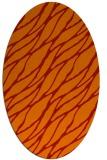 rug #474141   oval red natural rug