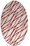 rug #474145 | oval red rug