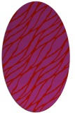 rug #474149 | oval red natural rug