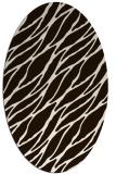 rug #474193 | oval brown rug