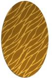 rug #474201 | oval yellow rug