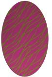 rug #474225 | oval light-green rug