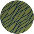 rug #474637 | round blue natural rug