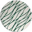 rug #474733 | round green popular rug