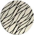 rug #474909 | round black natural rug