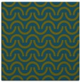 rug #477125 | square blue-green rug