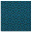 rug #477145 | square blue retro rug